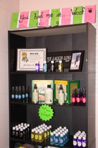 pet grooming supplies including dog shampoo and dog perfume